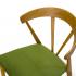 зеленый стул Greis 1 вблизи