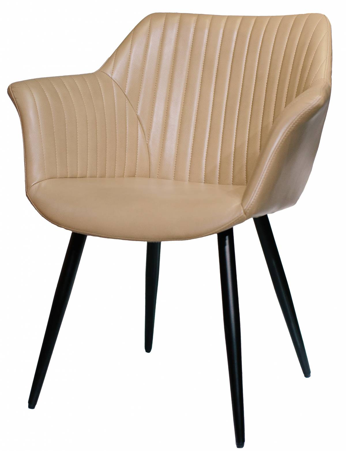 Купить деревянный стул из экокожи с подлокотниками Blues в Raroom