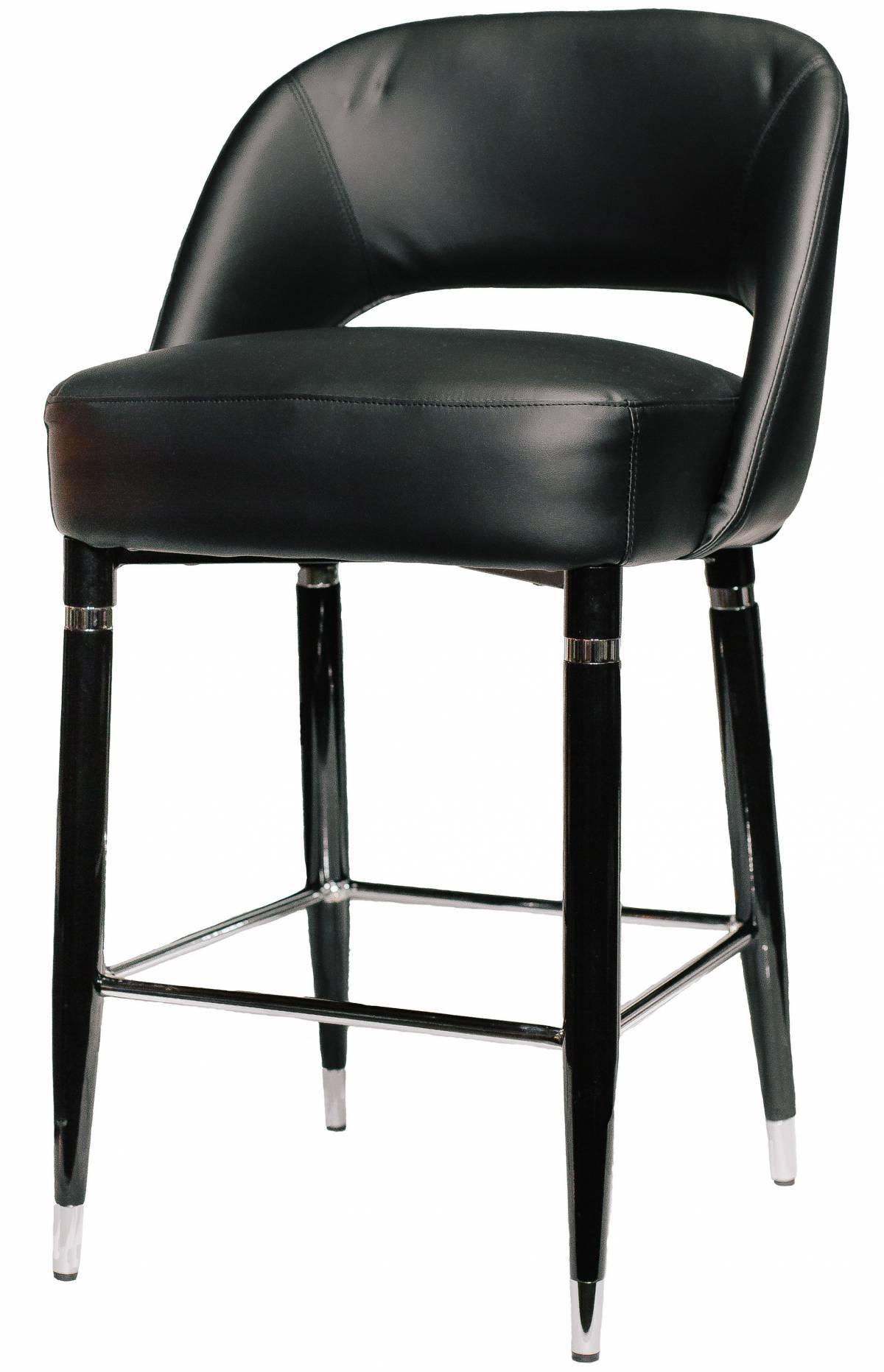 Черный барный металлический стул из экокожи Jazz в Raroom