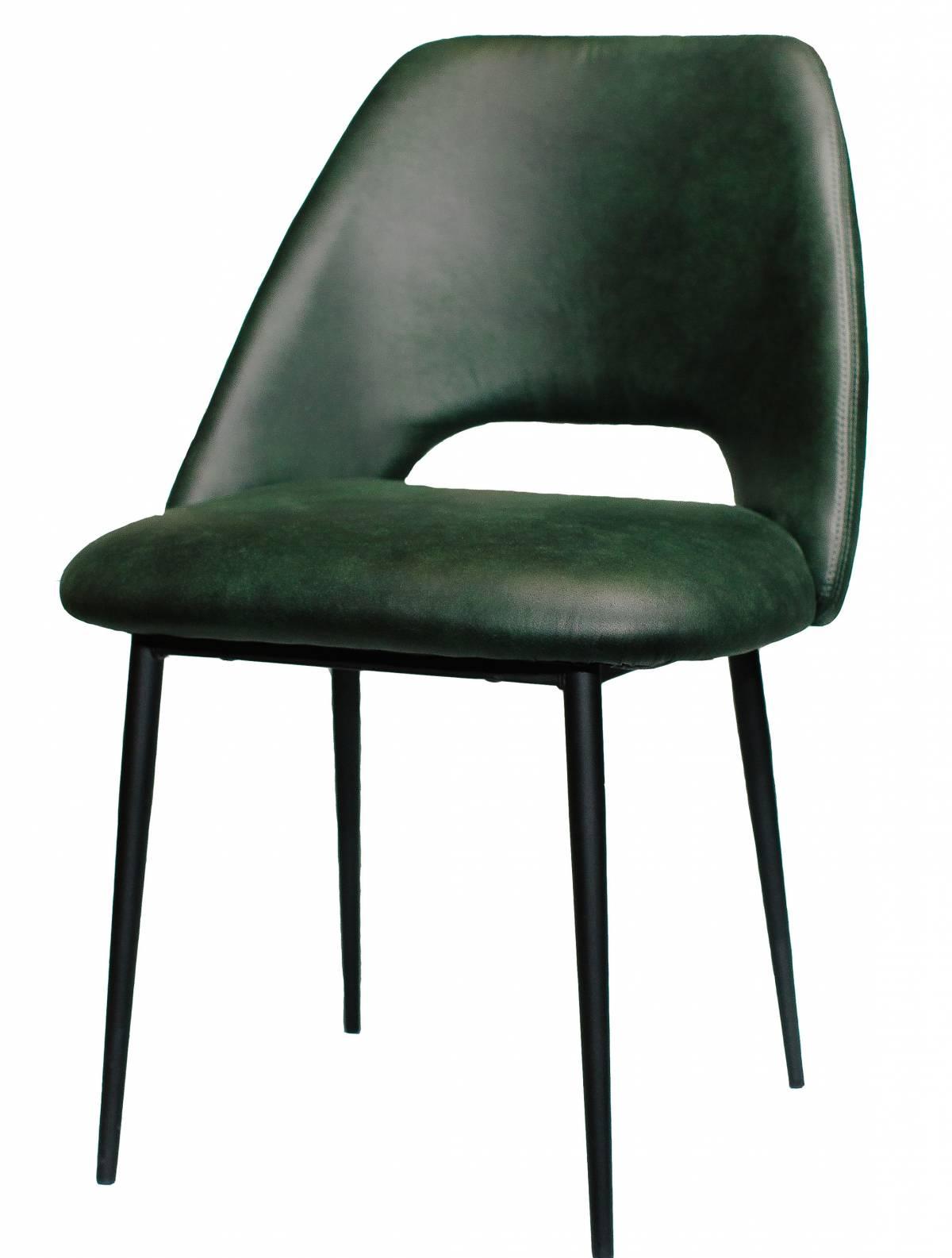 Металлический стул Vic Sandalye экокожа зеленый в Raroom