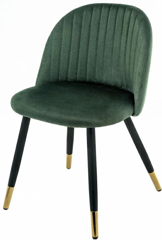 Купить зеленый бархатный стул Gabi с золотыми ножками  в Raroom