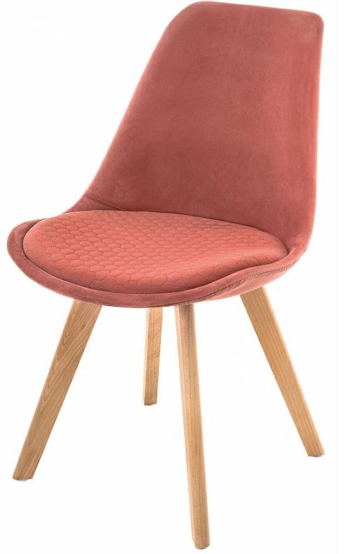 Купить коралловый бархатный стул Bonuss в Raroom