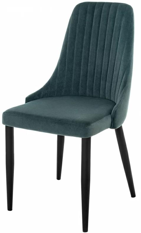 Купить темно бирюзовый бархатный стул Kora  в Raroom
