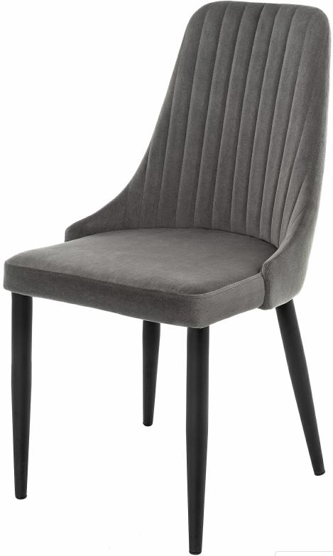 Купить серый бархатный стул Kora в Raroom