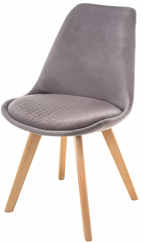 Купить серый мягкий стул Bonnus на деревянных ножках  в Raroom