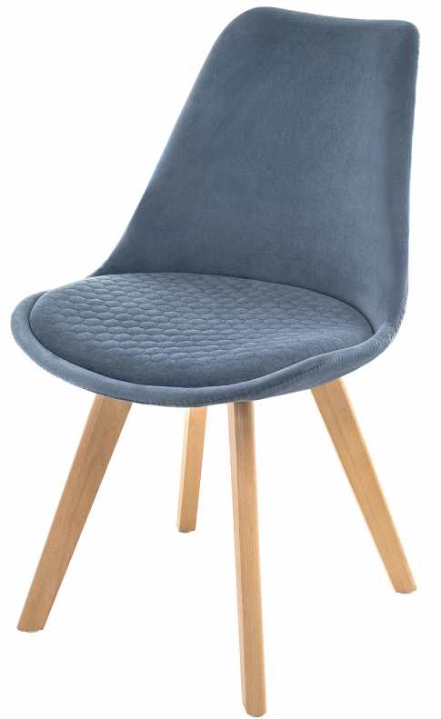 Купить мягкий синий стул Bonuss в Raroom