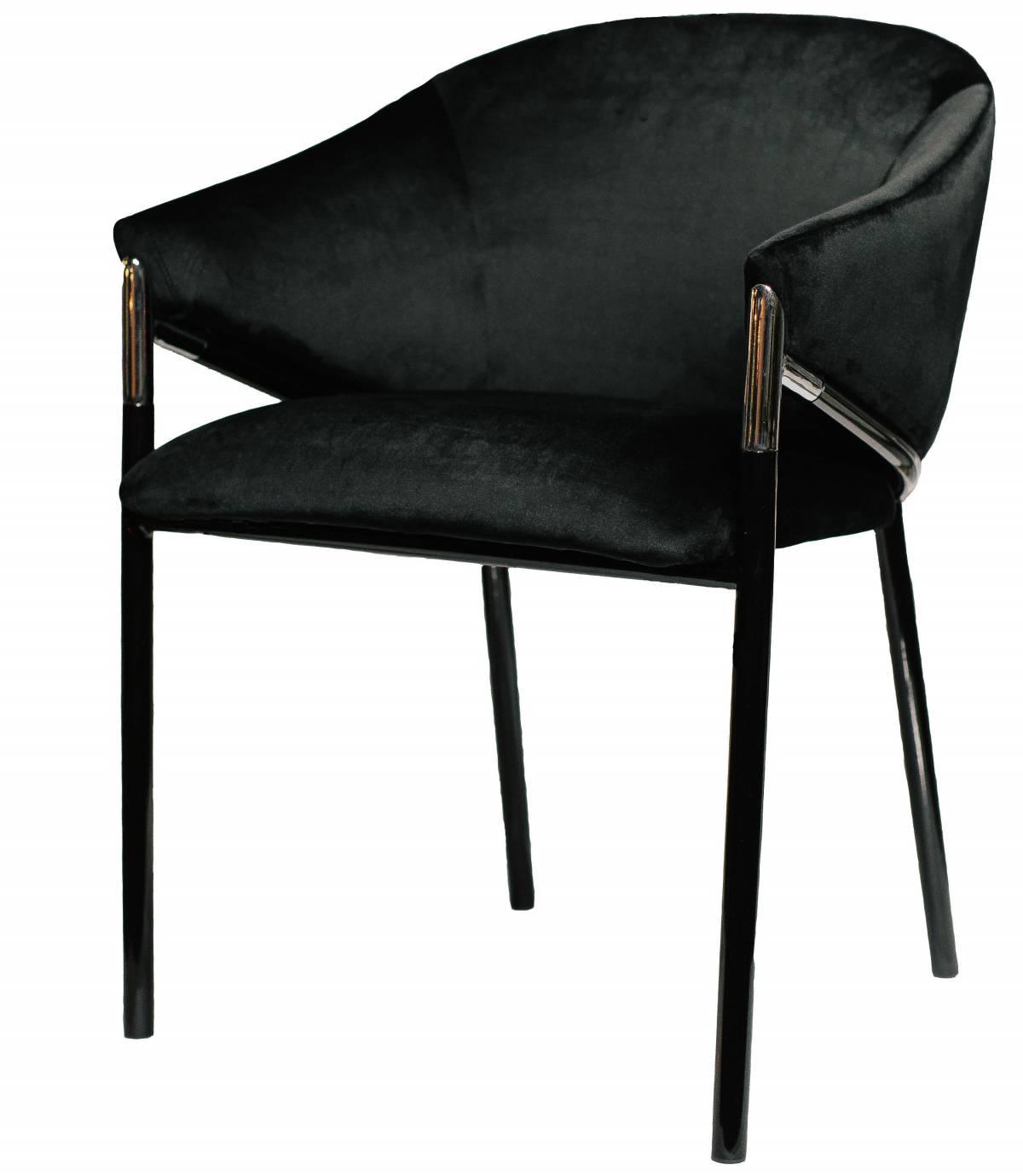 Купить кресло Melody бархатный черный в Raroom
