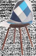 Купить тканевый стул НЕ Eames DSW Blue на темных ножках в Raroom