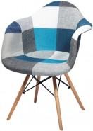Купить тканевый стул НЕ Eames DAW Patch Blue в Raroom