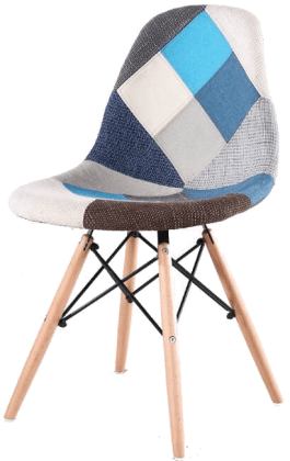 Купить стул НЕ Eames DSW Patchwork Blue в Raroom